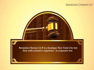 Hartley Bernstein and Bernstein Cherney LLP