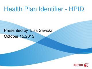 Health Plan Identifier - HPID