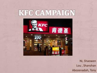 KFC campaign