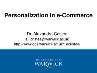 Personalization in e-Commerce
