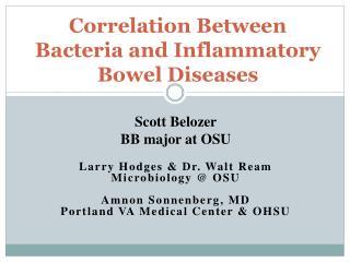 Correlation Between Bacteria and Inflammatory Bowel Diseases