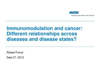 Immunomodulation and cancer: Different relationships across diseases and disease states