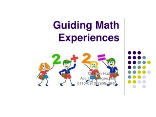problem solving:  guiding the experience