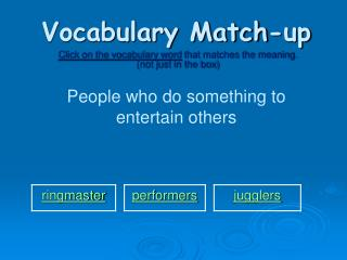 vocabulary match-up