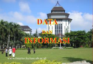 DATA  DAN  INFORMASI     www