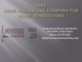 Home Remodeling Company in Boston