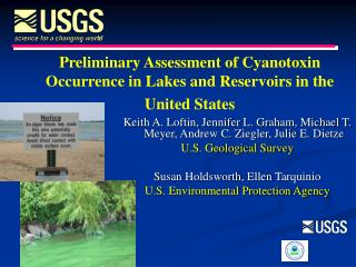 Preliminary Assessment of Cyanotoxin Occurrence in Lakes and Reservoirs in the  United States