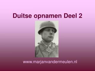 Duitse opnamen Deel 2