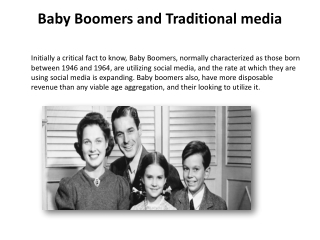 Baby Boomers and traditional media