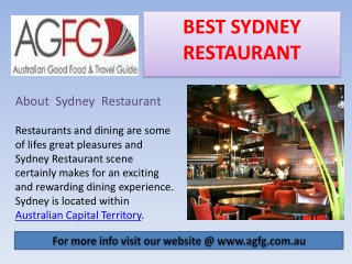 Good Food Guide Sydney Restaurants