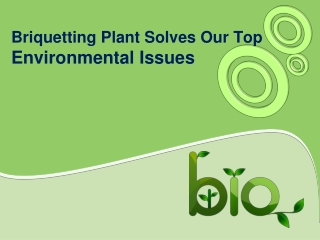 Briquetting Plant Solves Our Top Environmental Issues