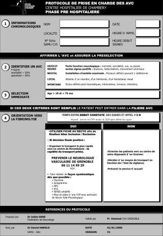 IDENTIFIER UN AVC 4 signes sensibilit   50 sp cificit   85