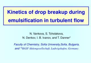 Kinetics of drop breakup during emulsification in turbulent flow