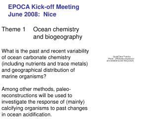 EPOCA Kick-off Meeting June 2008:  Nice