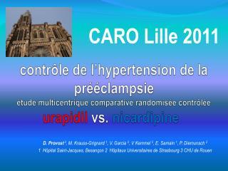 Contr le de l hypertension de la pr  clampsie   tude multicentrique comparative randomis e contr l e  urapidil vs. nicar