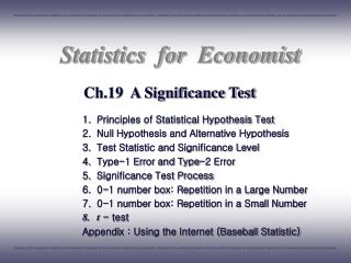 Ch.19  A Significance Test