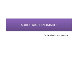 Aortic arch anomalies