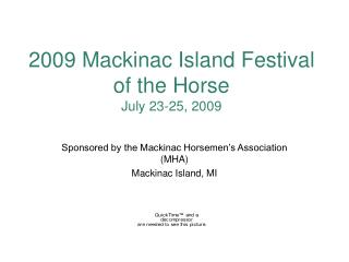 2009 Mackinac Island Festival of the Horse July 23-25, 2009