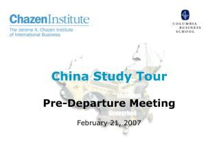 china study tour  pre-departure meeting