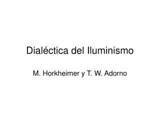 Dial ctica del Iluminismo