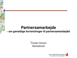 Partnersamarbejde - om gensidige forventninger til partnersamarbejdet