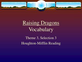 Raising Dragons Vocabulary