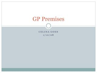 GP Premises