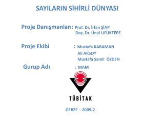 SAYILARIN SIHIRLI D NYASI     Proje Danismanlari: Prof. Dr. Irfan SIAP