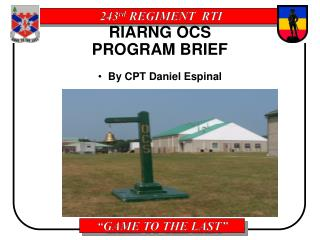 RIARNG OCS  PROGRAM BRIEF
