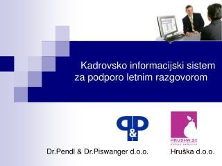 Kadrovsko informacijski sistem za podporo letnim razgovorom