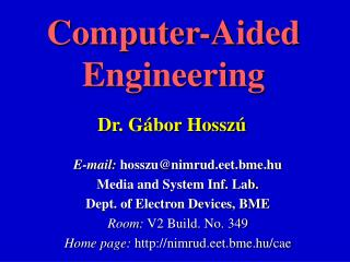 Computer-Aided Engineering