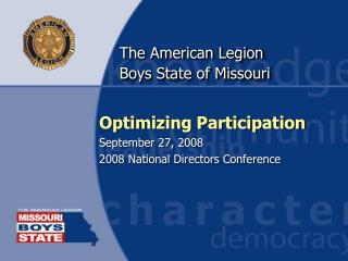 The American Legion Boys State of Missouri