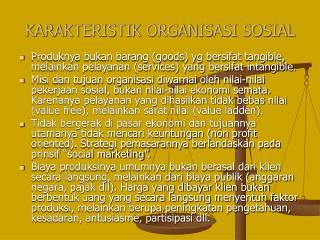 KARAKTERISTIK ORGANISASI SOSIAL