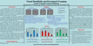 Visual Hemifields and Perceptual Grouping