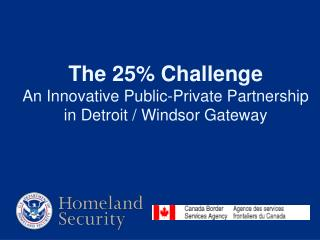 The 25 Challenge An Innovative Public-Private Partnership in Detroit