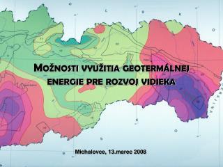 Mo nosti vyu itia geoterm lnej energie pre rozvoj vidieka