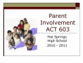parent involvement act 603