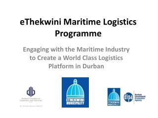 EThekwini Maritime Logistics Programme