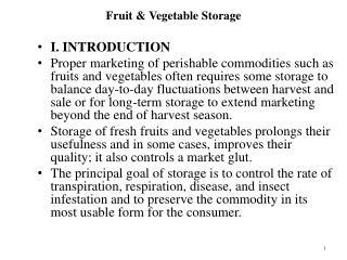 Fruit  Vegetable Storage