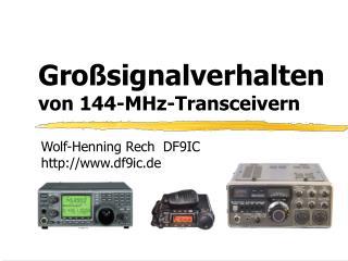 Gro signalverhalten von 144-MHz-Transceivern