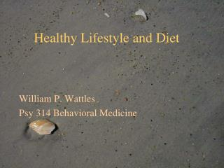 Healthy Lifestyle and Diet
