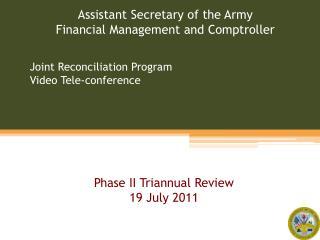 Joint Reconciliation Program Video Tele-conference