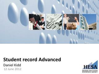 Student record Advanced Daniel Kidd