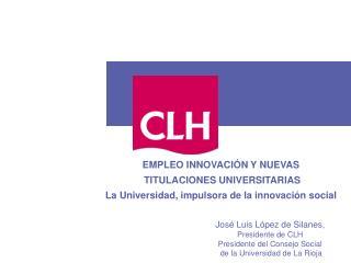 EMPLEO INNOVACI N Y NUEVAS  TITULACIONES UNIVERSITARIAS  La Universidad, impulsora de la innovaci n social