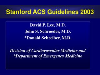 stanford acs guidelines 2003