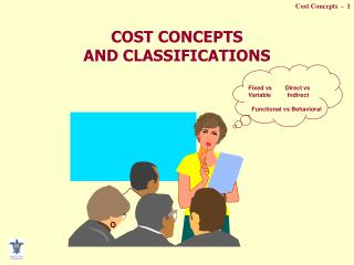COST CONCEPTS  AND CLASSIFICATIONS