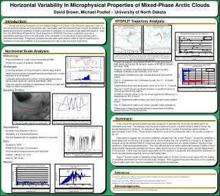 Horizontal Variability In Microphysical Properties of Mixed-Phase Arctic Clouds  David Brown, Michael Poellot   Universi