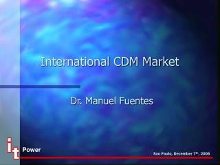International CDM Market