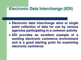 Electronic Data Interchange EDI