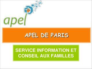 APEL DE PARIS